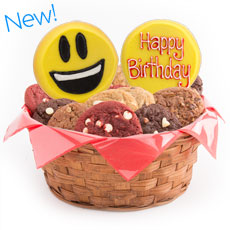 W446-BDAY - Sweet Emojis Basket-Birthday