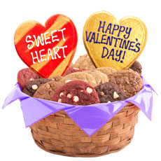 Valentine Basket   Valentine's Day Cookie Delivery