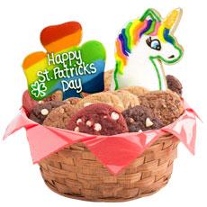 St Patricks Day Cookie Basket