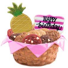 Flamingo Birthday Cookie Basket