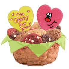 Heart Cookie Basket   Valentine Delivery