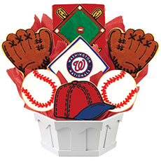 MLB Washington Nationals Cookie Bouquet