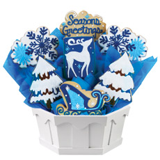 Cookie Bouquet Winter Wonderland