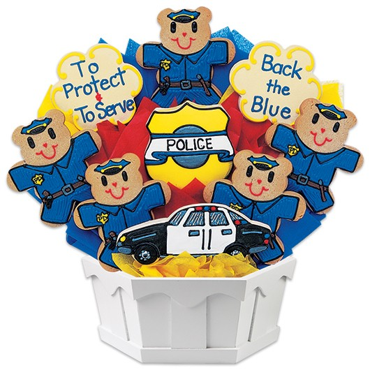 Police Cookie Bouquet