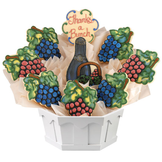 Grape Harvest Cookie Bouquet