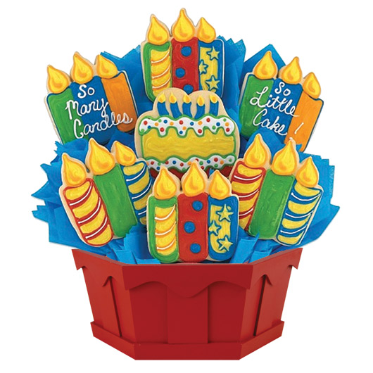 Birthday Candles Cookie Bouquet