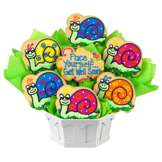 Get Well Snails Cookie Bouquet