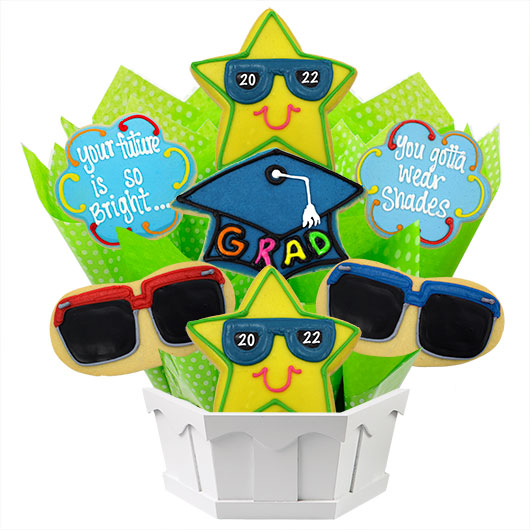 The Future is Bright Cookie Bouquet