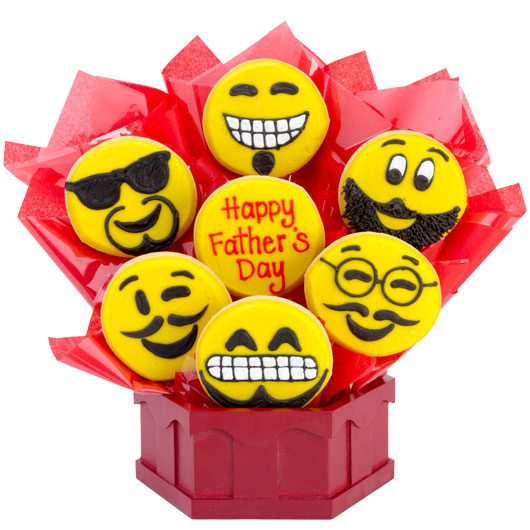 Sweet Emojis – Happy Father's Day Cookie Bouquet