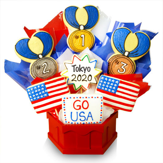 GO USA  Cookie Bouquet