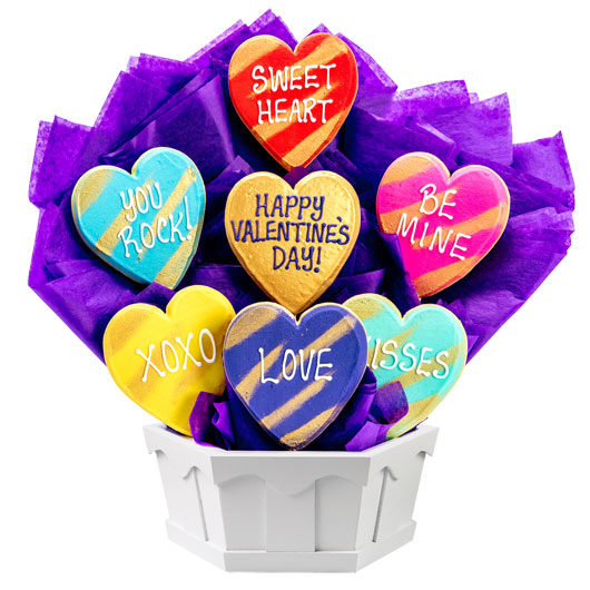 Hearts of Gold Cookie Bouquet