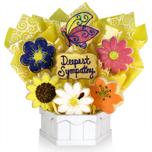 Sympathy Flowers Cookie Bouquet