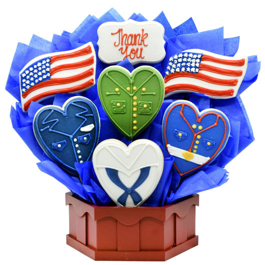 Military Thank You Cookie Bouquet