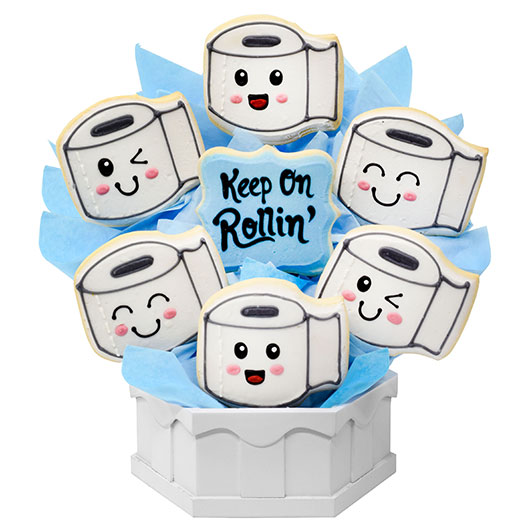 Keep On Rollin' Cookie Bouquet