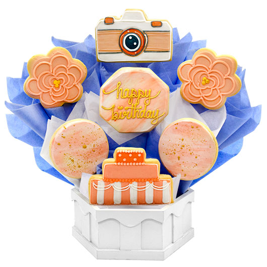 Picture Perfect Birthday Cookie Bouquet