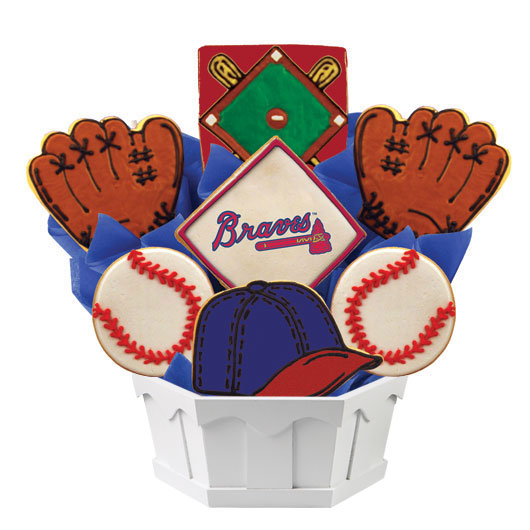 MLB Bouquet - Atlanta Braves Cookie Bouquet