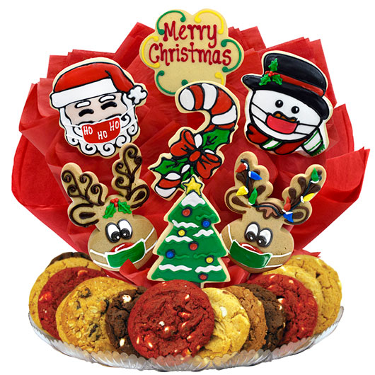 Merry Christmask Gourmet Gift Basket