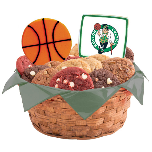 Pro Cookie Basketball Cookie Basket - Boston