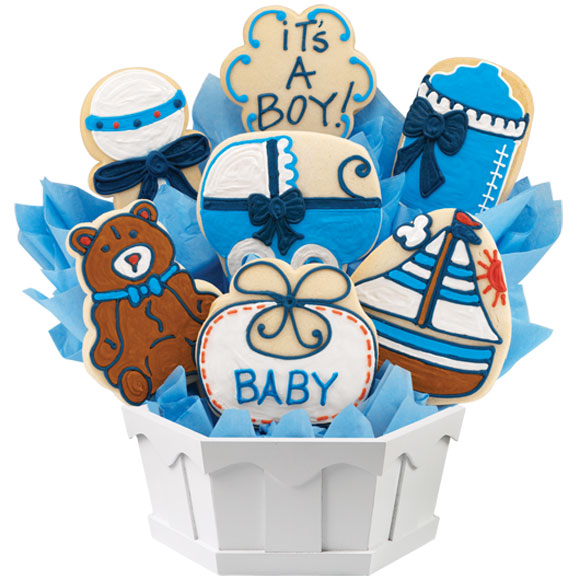 Bouncin' Baby Boy Cookie Bouquet