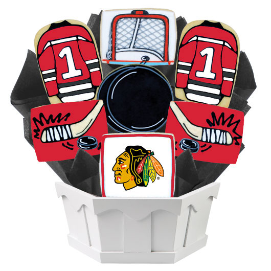 Hockey Bouquet - Chicago Cookie Bouquet