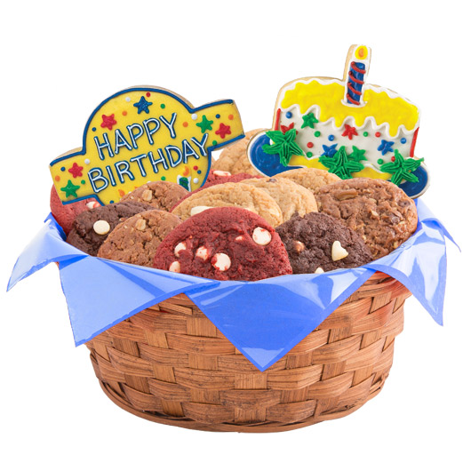 Confetti and Candles Primary Cookie Basket