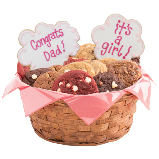 Congrats Dad, It's A Girl Cookie Basket