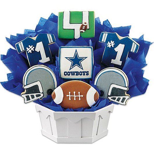 Football Bouquet - Dallas Cookie Bouquet