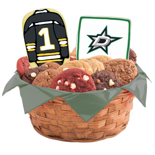 Hockey Cookie Basket - Dallas