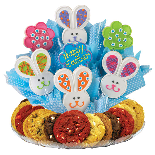 Easter Patchwork Bunnies Gourmet Gift Basket