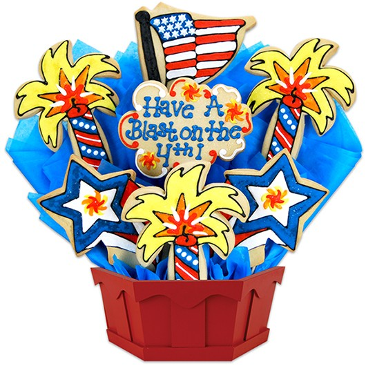 Firecrackin' Fourth Cookie Bouquet