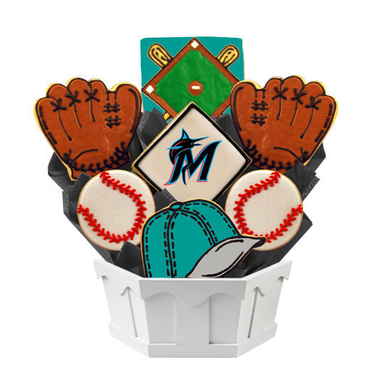 MLB Bouquet - Florida Marlins Cookie Bouquet
