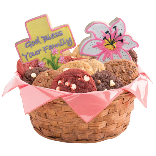 Flowers of Faith Cookie Basket