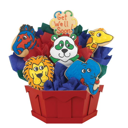Get Well Zoo Cookie Bouquet