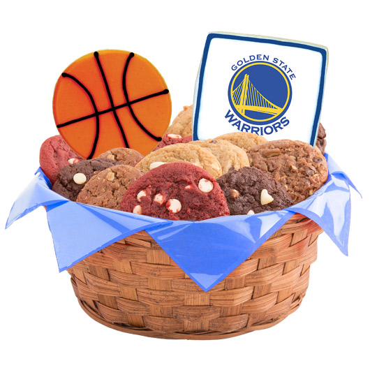 Pro Cookie Basketball Cookie Basket - Golden State