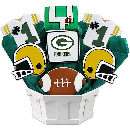 Football Bouquet - Green Bay Cookie Bouquet