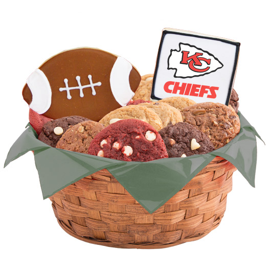Football Cookie Basket - Kansas City