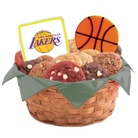 Pro Cookie Basketball Cookie Basket - LA LAL