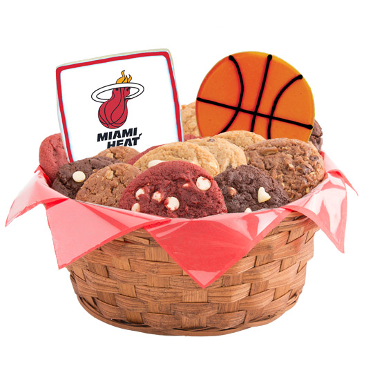Pro Cookie Basketball Cookie Basket - Miami