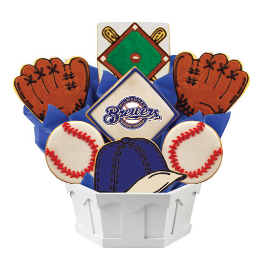 MLB Bouquet - Milwaukee Brewers Cookie Bouquet