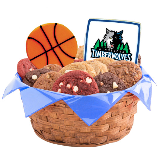 Pro Cookie Basketball Cookie Basket - Minnesota