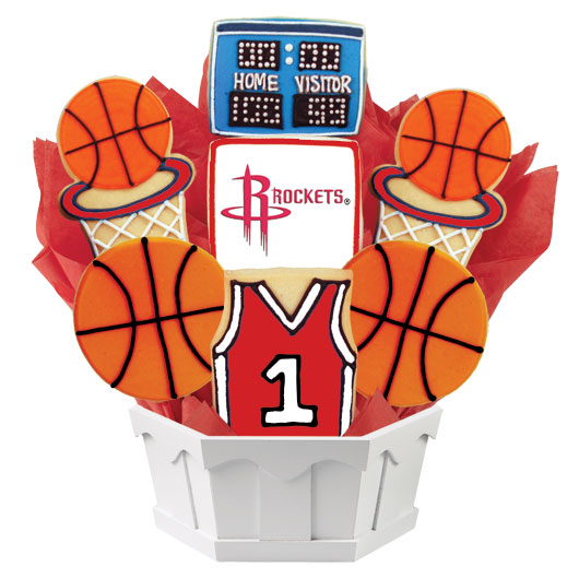 Pro Basketball Bouquet - Houston Cookie Bouquet