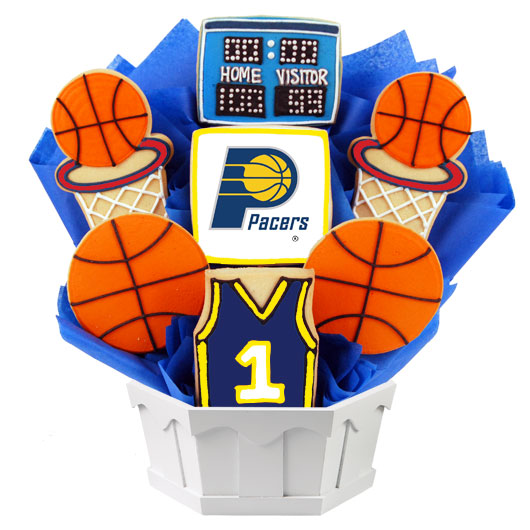 Pro Basketball Bouquet - Indiana Cookie Bouquet