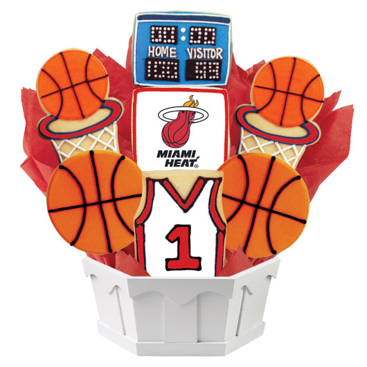 Pro Basketball Bouquet - Miami Cookie Bouquet