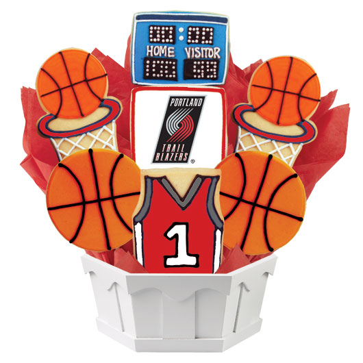 Pro Basketball Bouquet - Portland Trail Cookie Bouquet