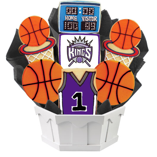 Pro Basketball Bouquet - Sacramento Cookie Bouquet