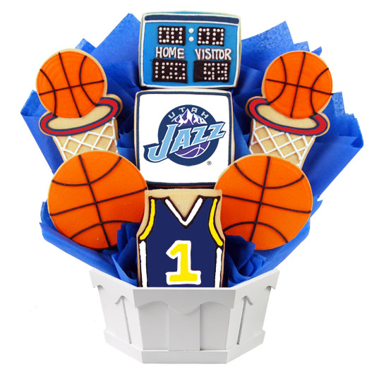 Pro Basketball Bouquet - Utah Cookie Bouquet