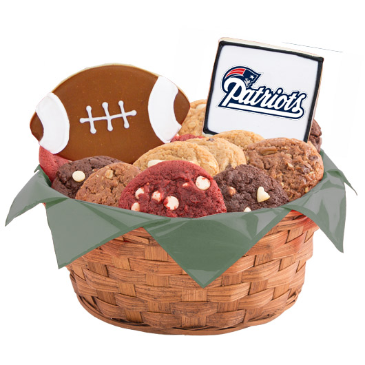 Football Cookie Basket - New England