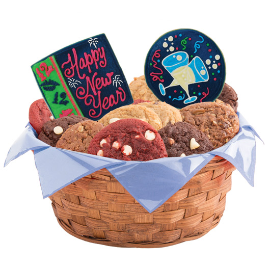 New Years Bash Cookie Basket