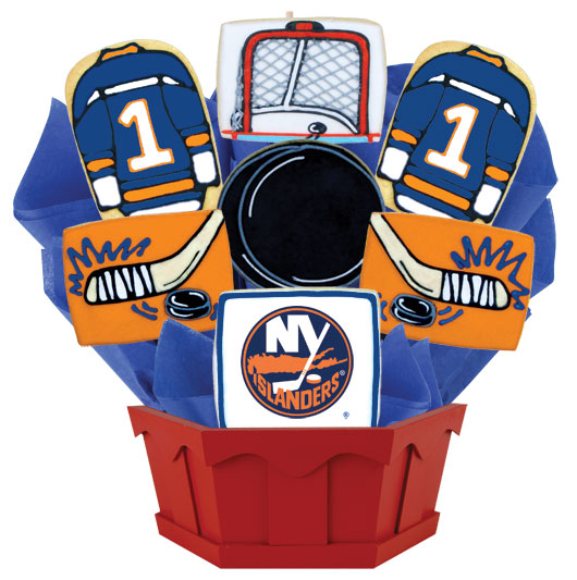 Hockey Bouquet - New York NYI Cookie Bouquet