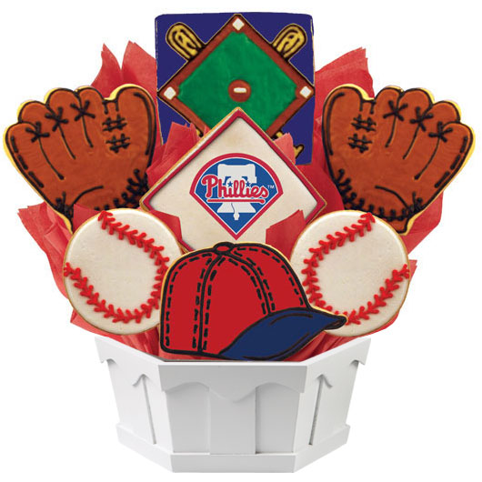 MLB Bouquet - Philadelphia Phillies Cookie Bouquet